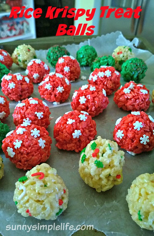 rice krispy treats, Christmas cookies