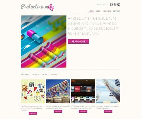 Free Protactiniumify WordPress Theme