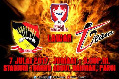Live Streaming Negeri Sembilan vs T-Team Piala Malaysia 7 Julai 2017