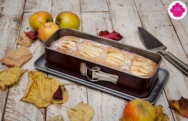 Gâteau aux pommes fossiles: gâteau après cuisson