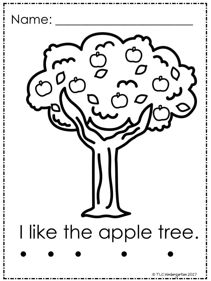 TLC Kindergarten: FREE APPLE PRINTABLES