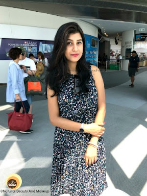 what I Wore to Sky 100 Hong Kong- A Navy colored floral long maxi dress, Anamika Chattopadhyaya, NBAM blog, fashion blogger