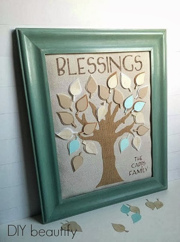 DIY Family Tree Blessings Art