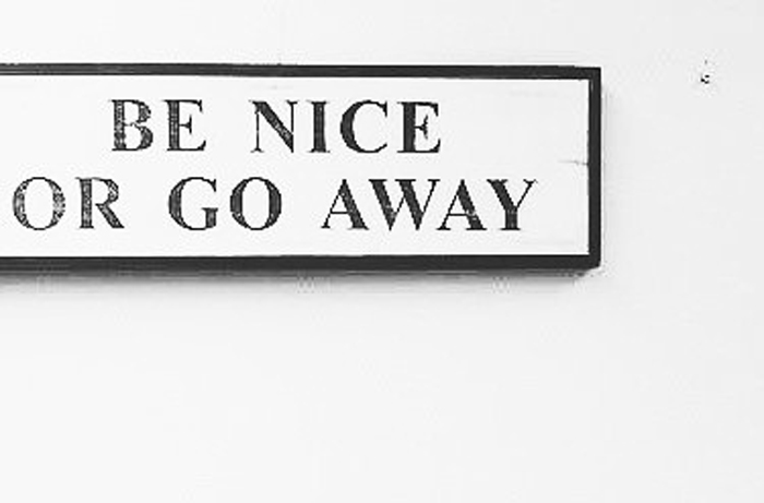 Seja legal ou vá embora