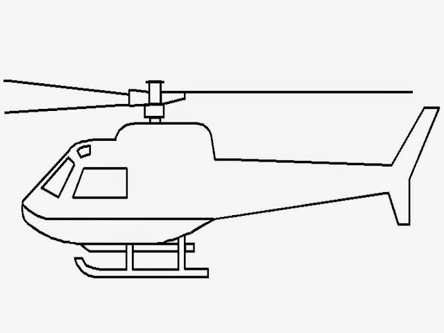 Realistic helicopter coloring pages