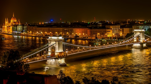 Budapest Hungary Night Photo
