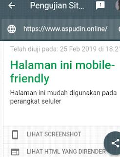 Tes mobile friendly