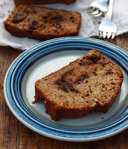 moist banana bread with ceylon cinnamon