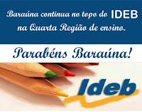 Baraúna é de novo o melhor IDEB da 4ª Regional de Ensino