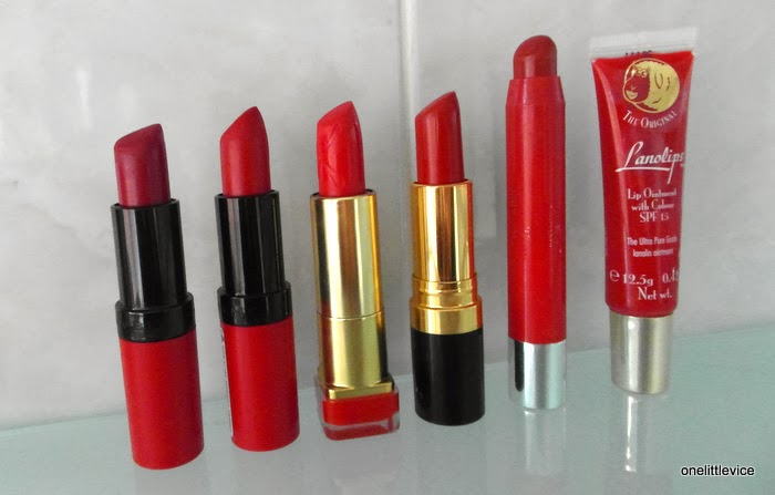 review swatches red lip colours