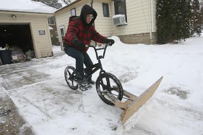 Bici bicicleta quitanieves
