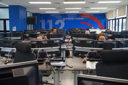 Emergencias refuerza en Navidad un 11% los turnos del personal de la sala 112 Comunitat Valenciana