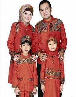 Model baju batik sarimbit muslim kombinasi