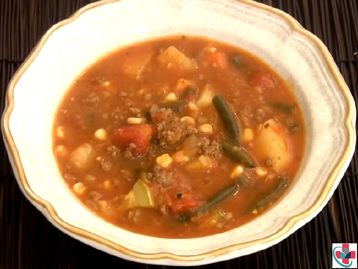 OLD FASHIONED BEEF-VEGETABLE SOUP