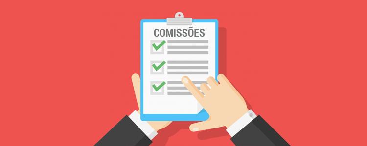 Relatório de comissões de operadores no sistema de cobrança CEDRUS