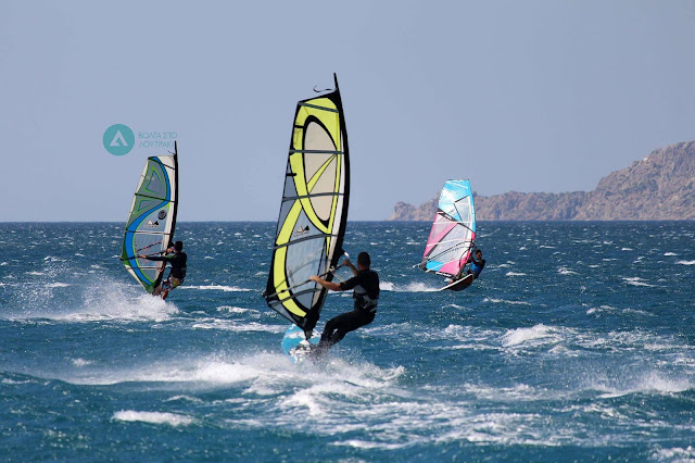 Windsurfing in Loutraki Greece with Extremers Base Photo Panos Mavropanos for Volta sto Loutraki