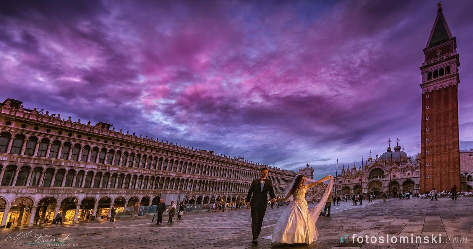 Piękne zdjęcie z Wenecji - Fotografia ślubna M.Słomiński - Fotograf Wrocław.