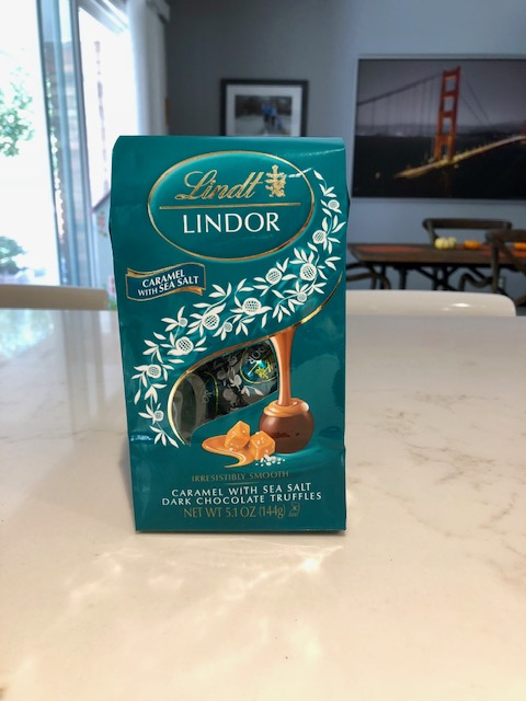 Lindor dark chocolate caramel sea salt truffles
