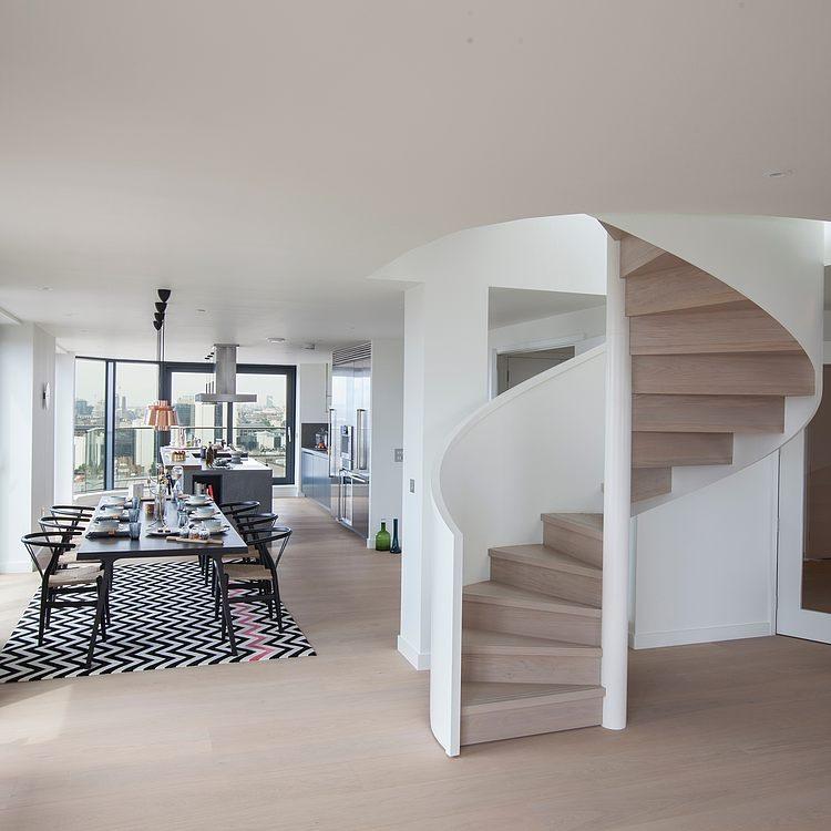 Mcompany style c mo decorar con escaleras de caracol for Que es una escalera