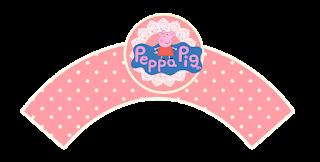 Wrappers para cupcakes de Peppa Pig y Familia.