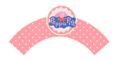 Peppa Pig and Family, Free Printable Cupcake Wrappers