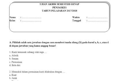 Soal UAS PJOK Kelas 5 Semester 2 Beserta Kuncinya