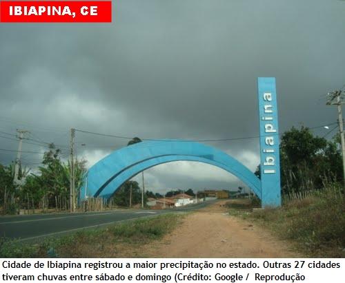 Ceará tem chuvas de até 90 milímetros no fim de semana