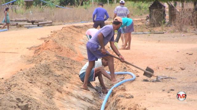 Iniciada ampliação da rede de abastecimento d'água de Gracismões