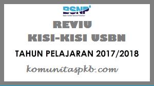 Reviu Kisi - kisi USBN Tahun 2018 oleh  Puspendik