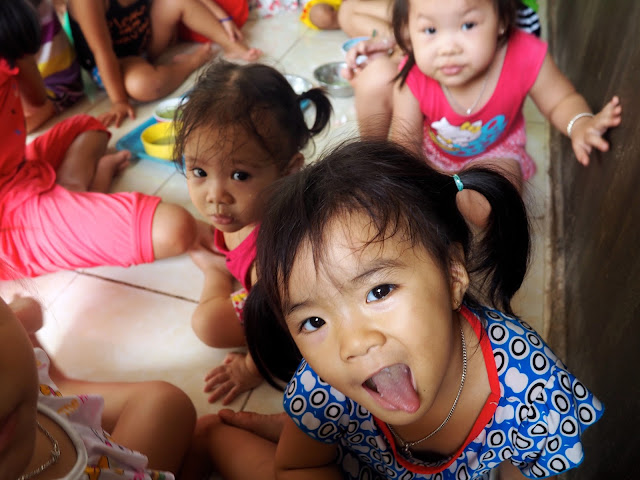 Young children in the local kindergarten on an island near Nha Trang, Vietnam