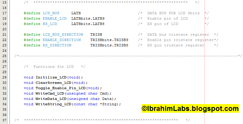 How to Interface LCD (in 8 bit) with PIC24 16bit Microcontroller