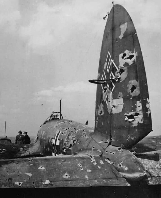 8 August 1940 worldwartwo.filminspector.com Heinkel He 111 shot-up