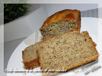 Banana bread ou cake aux bananes et farine de pois-chiches