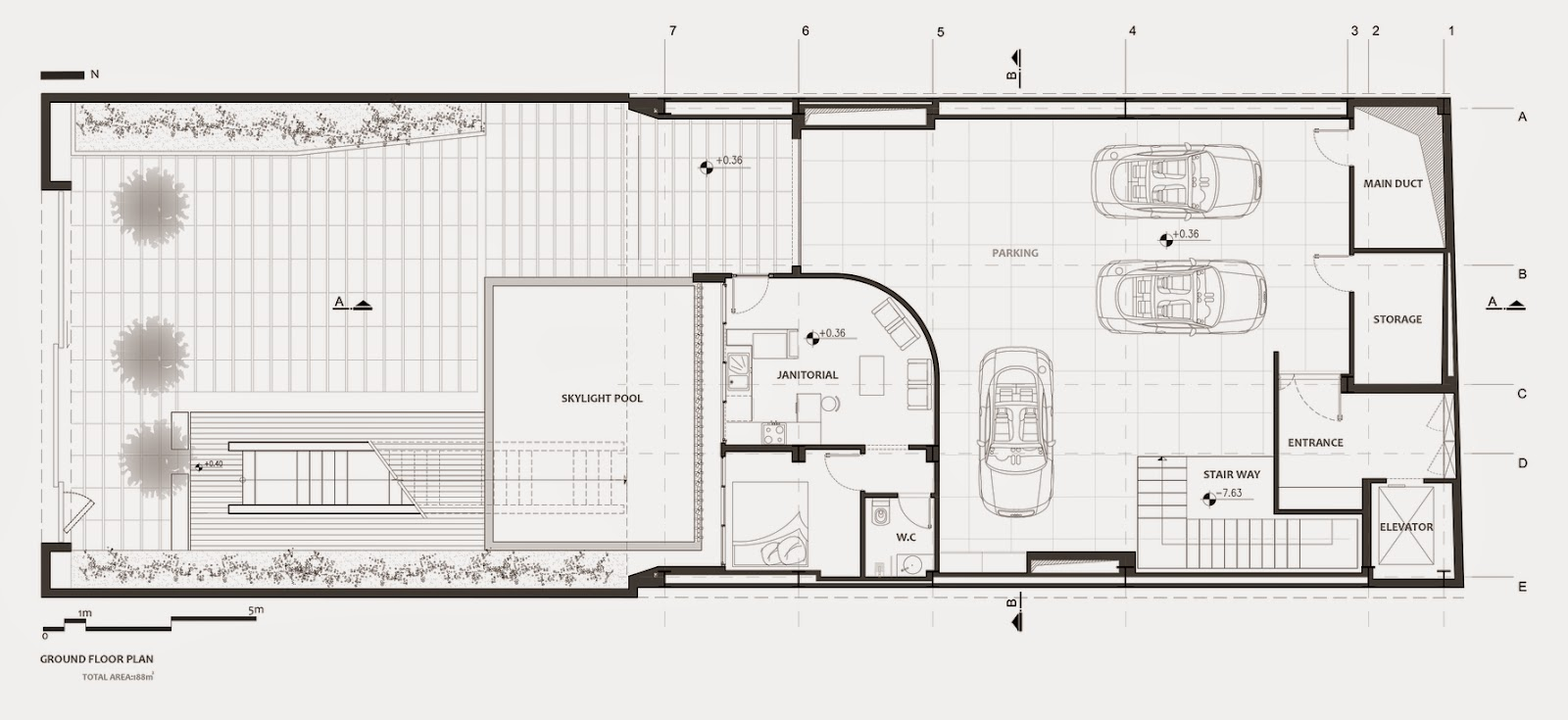 08-Plans-Ground-Floor-Plan-Section-Nextoffice-Sharifi-Ha-House-Revolving-Rooms-Architecture-www-designstack-co