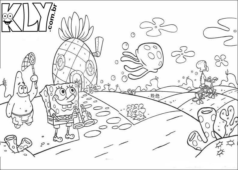 Desenhos Do Bob Esponja Para Colorir