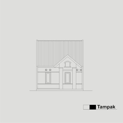 Contoh Sketsa  Gambar Bangunan Rumah  Type 36 Konstruksi