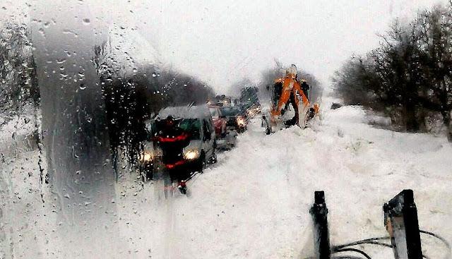 sniag - снежни блокади в България