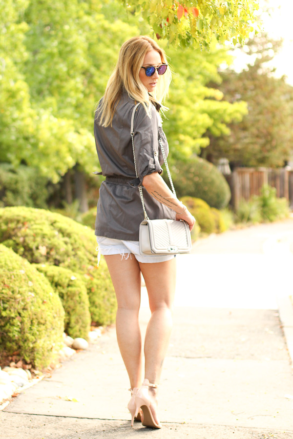 how to wear shorts with heels parlor girl