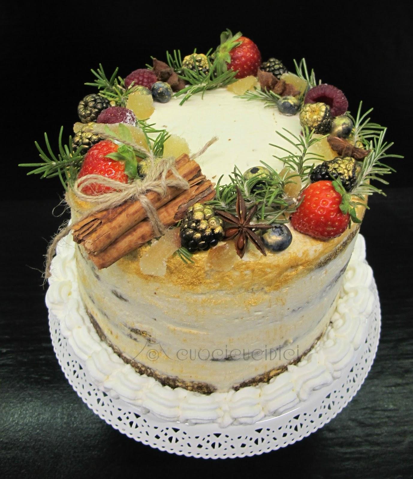 Torte Decorate Per Natale cuocicucidici: gingerbread layer cake- torta a strati al