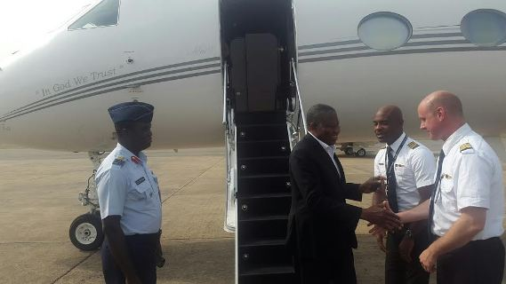 Photos: Ex President Goodluck Jonathan Returns From The US