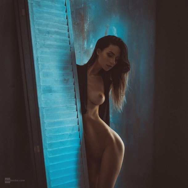 Dan Hecho 500px fotografia mulheres modelos sensuais nudez azul arte