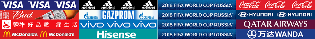 Copa do Mundo FIFA Russia 2018 - Placas de publicidade FTS