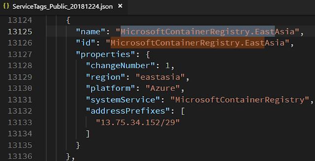 service public ip Microsoft Container Registry EastAsia