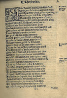 "First page of the 1553 edition of the Eneados including a woodcut initial ""L""."