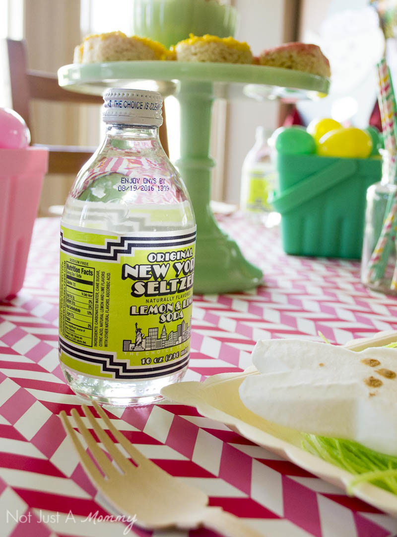 How To Style A Easter Table; pretty drink packaging fits in perfectly