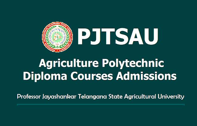 Telangana PJTSAU Agriculture Polytechnic Admissions 2019 (Diploma Courses)