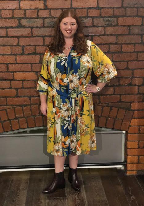 A Grown-Up Festive Weekend in Ouseburn - Evan's yellow shirt dress
