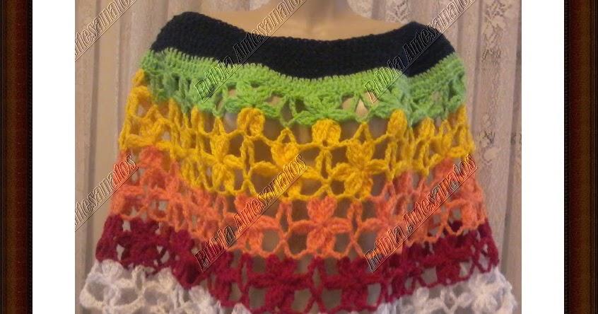 Tem Na Web - Capa de Crochê com Flores