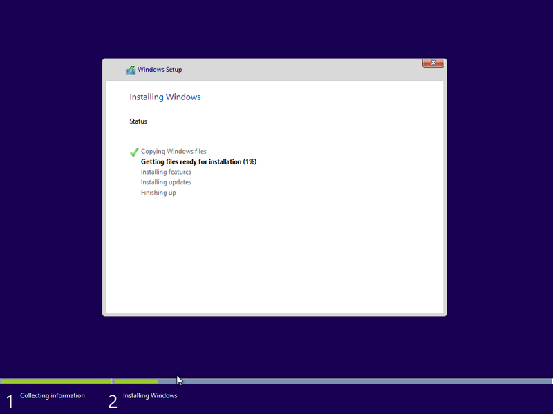Proses Install Windows 10