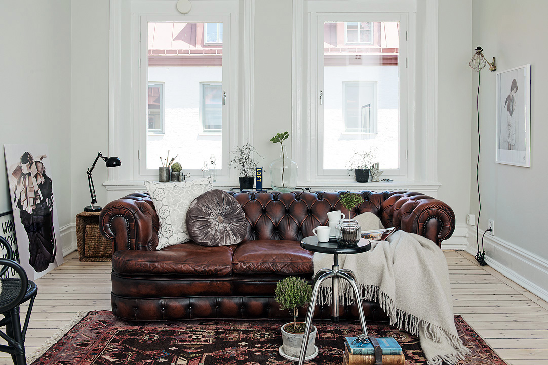 El Rincón Vintage de Karmela: Un apartamento en blanco níveo con ...